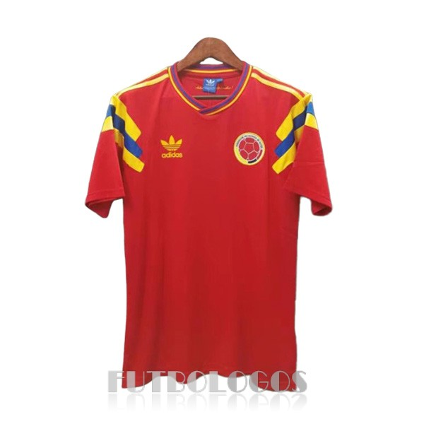 camiseta 1990 colombia retro primera