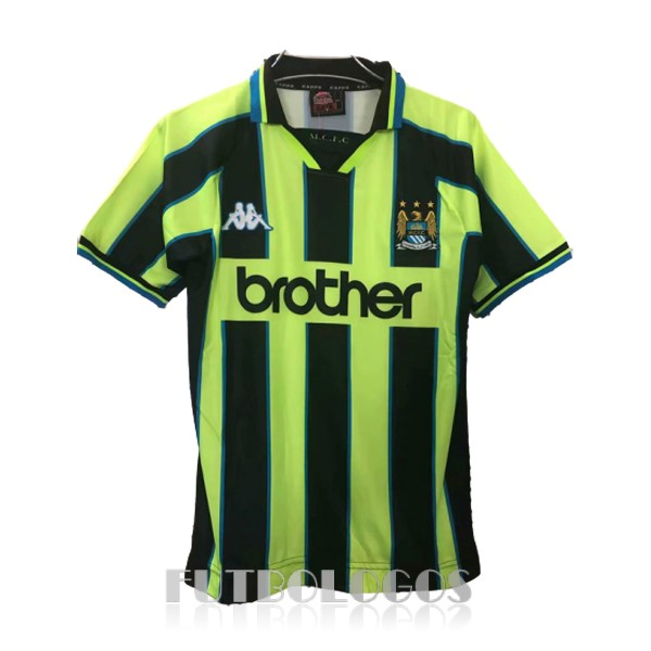 camiseta 1998-1999 manchester city retro tercera