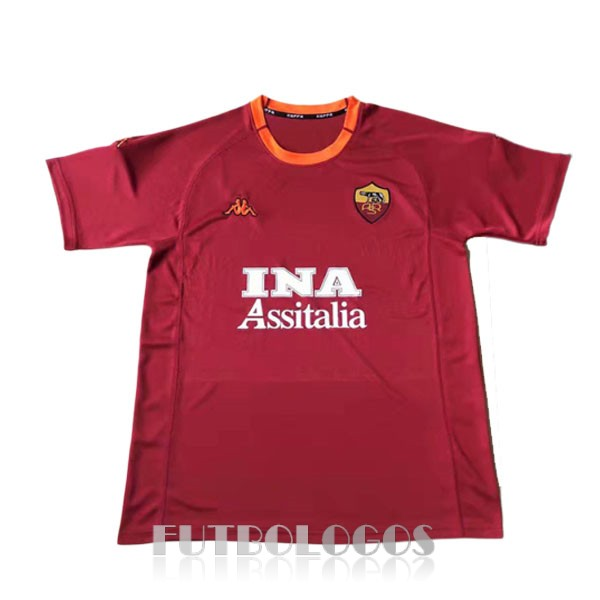 camiseta 2000-2001 as roma retro primera