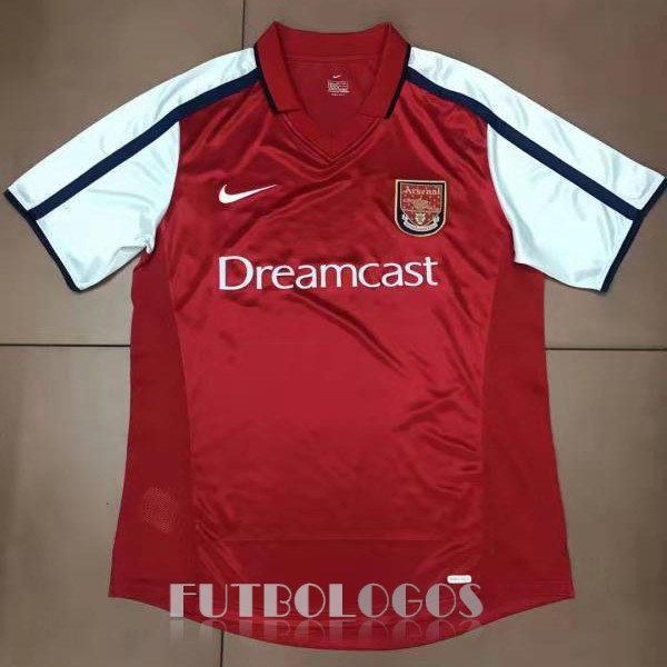 camiseta 2000 arsenal retro primera