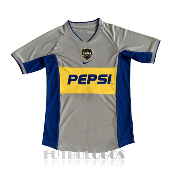 camiseta 2002 boca juniors retro tercera