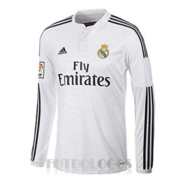 camiseta 2014 real madrid retro manga larga primera