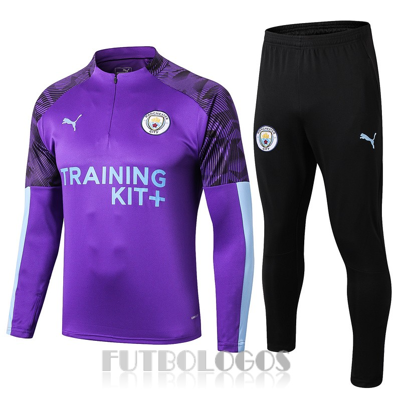 chandal 2019-2020 manchester city cremalleras purpura