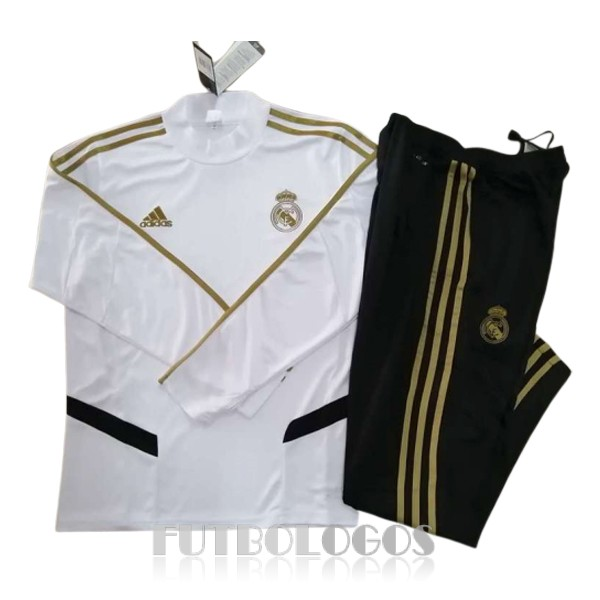 chandal 2019-2020 real madrid cuello alto blanco