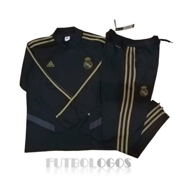 chandal 2019-2020 real madrid cuello alto negro