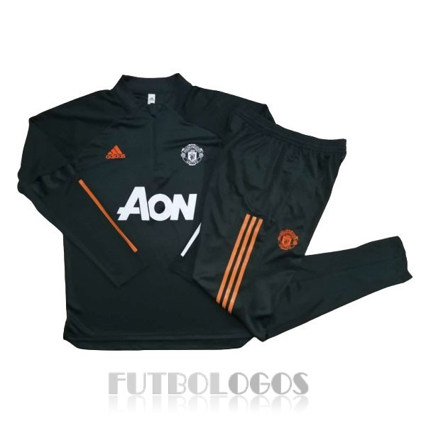 chandal 2020-2021 manchester united cremalleras verde oscuro