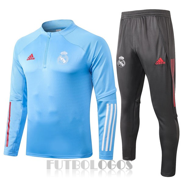 chandal 2020-2021 real madrid cremalleras azul claro